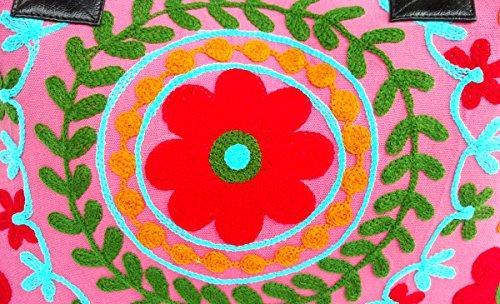 Handicrafts Damen Rastogi Schultertasche weiß rot Elfenbein va7Bnwdq71