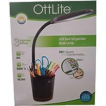 Ottlite LED Swirl Organizer Desk Lamp Black