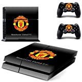 #1: Hytech Plus M. United Black Theme Sticker for Playstation 4 Console & 2 Controllers