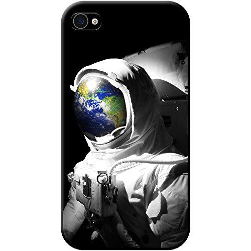 Astronautenanzug & Spiegelbild der Erde Hartschalenhülle Telefonhülle zum Aufstecken für Apple iPhone 4 / 4s