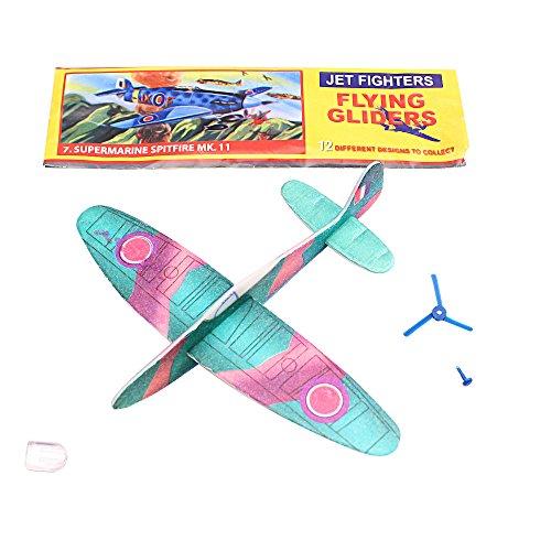 Henbrandt Fliegende Flugzeuge WWII Glider, ideal für Sportschuhe/Spielzeug für Kinder-(Multi - Multi Glider