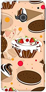The Racoon Grip Beige Cake Bake hard plastic printed back case / cover for HTC One (M7)