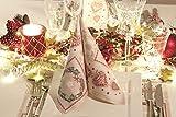 Mank Airlaid-Servietten Benita 40x40 cm   Premium Einweg-Serviette   textilähnlich und saugstark   perfekt für Partys & Events   50 Stück   Weihnachten