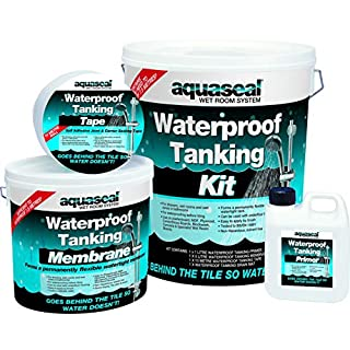 Aquaseal Wet Room System Kit - Waterproofing membrane for shower and wet room - Large - Clear