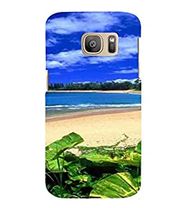 Sea Shore, Blue, Cloud , Beach, Printed Designer Back Case Cover for Samsung Galaxy S7 :: Samsung Galaxy S7 Duos :: Samsung Galaxy S7 G930F G930 G930Fd