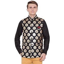 House of Sensation New Designer Art Silk Nehru Jacket Trendy Timeless and Versatile Nehru Jacket