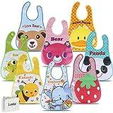 Letilio Lätzchen 8 Sätze wasserdichter Unisex Lätzchen EVA Lätzchen Baby Kleinkind 6 Monate bis 6 Jahre alt bequemes weiches Lätzchen zur Vermeidung von Flecken