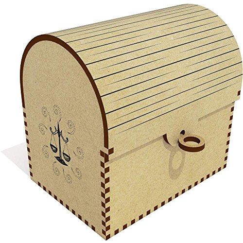 """TC00009622      Diseño original por Yasmin Morris.   Este es un hermoso cofre del tesoro de MDF con una tapa flexible. Ideal para almacenar joyas, pequeños tesoros y otros artículos. El cofre del tesoro viene con una selección de """"llaves"""" con..."""