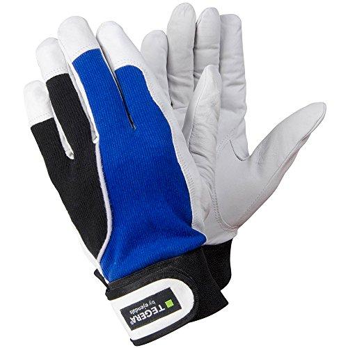 Ejendals Lederhandschuh Tegera 13, Größe 9, 1 Stück, blau/weiß/schwarz, 13-9 (Dünne Leder-handschuhe)