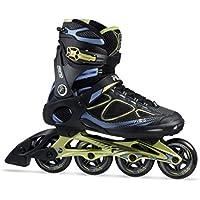 Fila Skates Primo Air Flow, Pattini in Linea Uomo, Nero/Blu/Lime, 7.5