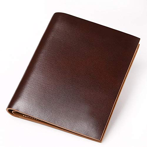 Rcnry European And American Retro Leather Wallet, Men's Business Short Oil Wax Wallet, Ultra-Thin Vertical Wallet, Black, Brown,Brown