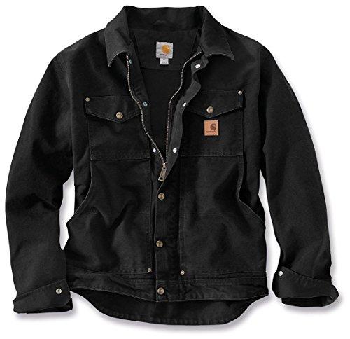Jacke für Herren aus Stoff Modell Carhartt 101230 Berwick Nera Jacket Black S Schwarz