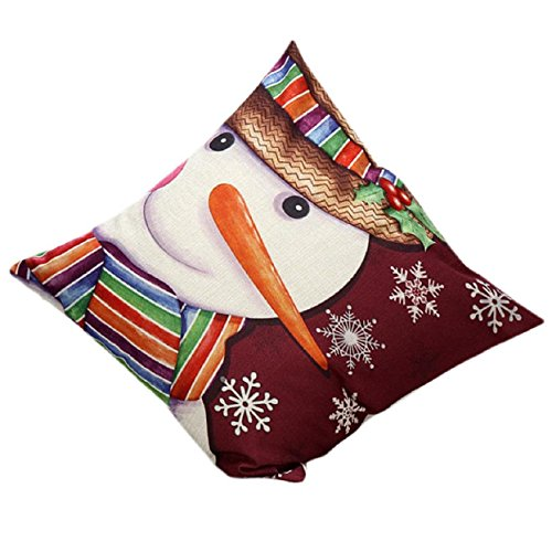 Malloom® Christmas Snowman Sofa Bed Home Decor Pillow Case Cushion Cover