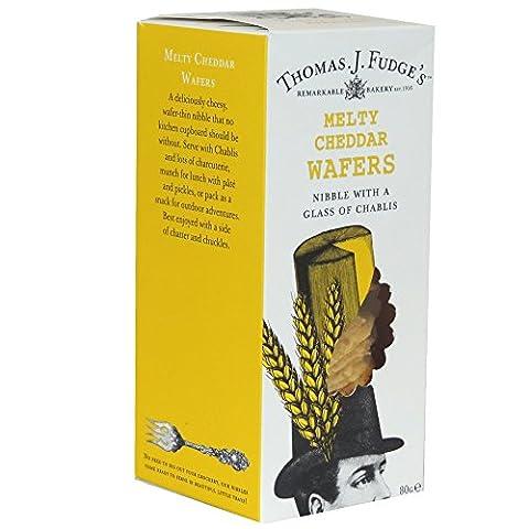 Thomas J Fudges - Melty Cheddar Wafers - 80g (Case