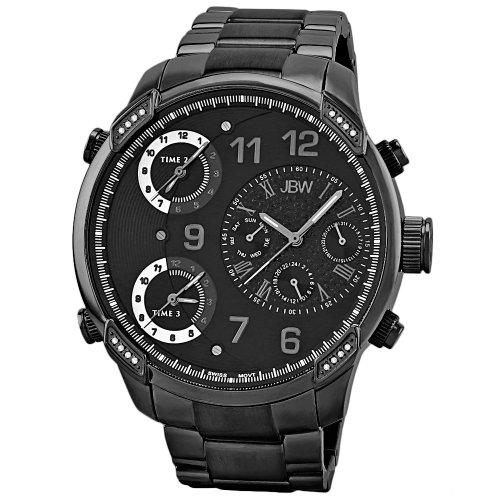 JBW G4 Reloj DE Hombre Diamante Cuarzo Suizo 53MM Color Negro J6248G