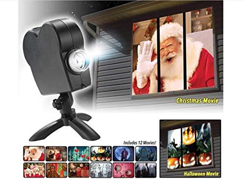 Window Wonderland Führte Projektorlichter, 12 Filme Halloween-Weihnachten Projektionslampe-Erscheinen, Im Freien/Innenfestival-Dekorationen: Dreht Ihr Windows In Festliche Film-Schirme