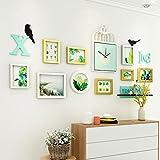 Foto an der Wand Sofa Hintergrund Wand Bilderrahmen Wand Kombination Schlafzimmer dekorative Wand Rahmen Wand Foto Dekorative Wanduhr (Farbe : B)