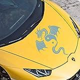 JINTORA Sticker - Autocollant De Voiture Dragon De Yin Yang 40cm x 32cm Turquoise Pastel - réglage Lunette arrière Voiture - Style de Voiture
