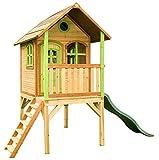 Beauty.Scouts Holzspielhaus Wencke mit Veranda + Rutsche + Leiter 172x272x318cm aus Zedernholz in...
