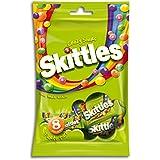SKITTLES Bonbons Dragéifiés Crazy Sours Goûts Fruits Acidulés 8 Mini Sachets 207 g - Lot de 6