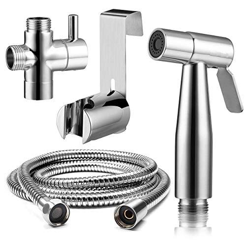 """Clean body Bidet Sprayer Toilet Hand Spray Kit 304 Edelstahl Wc Handbrausen 59\""""Schlauch Hochdruck Mit Einstellbarem Wasserdurchfluss, Ventil Und Sprühhalterung Fauay"""