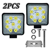 2 Pz 27 W Spot Quadrato LED Lavoro Luce Offroad Flood Beam Driving Lamp Luci Fendinebbia SUV UTE Camion 4WD Barca 9V-30V