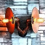 Wandlampe Der Retro- Wandlampe Industrielle Wind Schmiedeeiserne Rohrlampen-Stabrestaurant Dekorative Wandlampe Doppelte Kreative Lampe Der Lampenschirmlampe