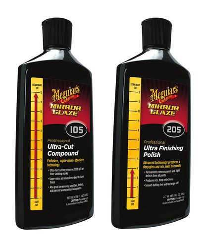 Meguiar's Meguiars M105 Ultra Cut Compound & M205 Ultra Finishing Polish Kit