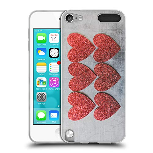 Offizielle Andrea Anderegg Herzen Gemischte Designs Soft Gel Huelle kompatibel mit Apple iPod Touch 5G 5th Gen (Herz Case Für Ipod Touch 5)