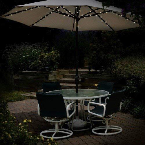 eBuzz 72Premium LED Lampes solaires de Parasol
