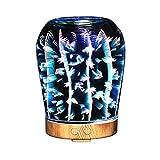 Izzya 3D 100 Ml Sieben Farben Einstellbar Nachtlicht Oil Essential Duftlampe Glasabdeckung Kühler Nebelbefeuchter Ultraschall Automatische Abschaltung