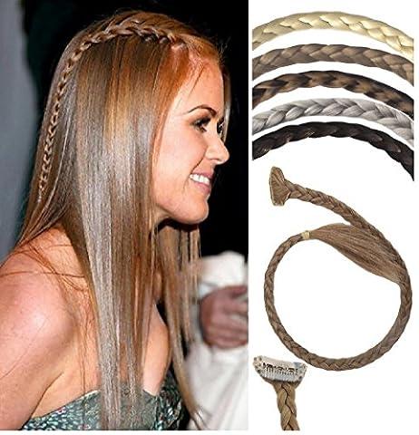 VANESSA GREY En toutes couleurs: mince tresse de cheveux extra long, Clip en un fin un fin ouverte, Utiliser de nombreuses façons