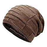 Leisial™ Unisexo-Adult Sombrero de Invierno Gorro de Punto Caliente Sombrero al Aire Libre Doble Uso Gorro de Regalo