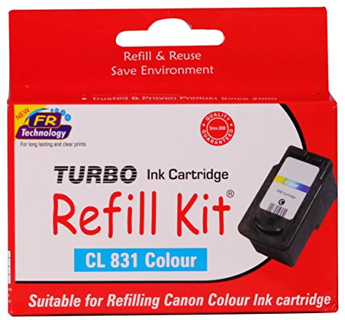Turbo Refill Kit for canon cl 831 Color ink cartridge  available at amazon for Rs.590