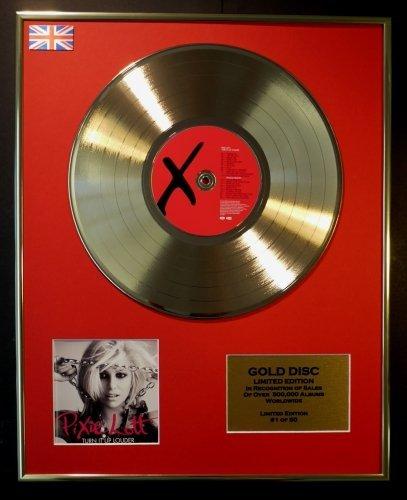 pixie-lott-edition-limitee-cadre-disque-dor-cd-et-vinyle-turn-it-up-louder