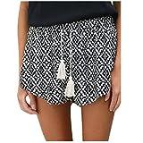 Bekleidung Longra Damen Kurze Hosen Hotpants Sommer Casual Shorts High Waist Shorts