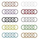 Udekit 25mm Bunte Metaal-sleutelhanger Ring sleutelring voor sleutels organisatie (50stuks voor 10kleuren, elk Kleur met 5stuks)