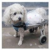 WHEELCHAIR Pet Silla de Ruedas Transpirable Comfort Dog Silla para Mayores Ancianos Walker Bolsa de Transporte para Perros pequeños 2 Ruedas (Size : XXS)
