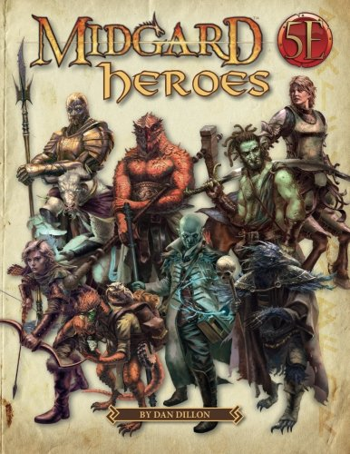 Price comparison product image Midgard Heroes: New Heroes for 5th Edition
