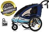 QERIDOO La remorque de vélo enfant Sportrex2 remorque chariot, bleu