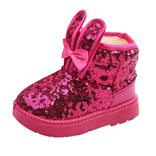Elecenty stivali neonato scarpine bambina inverno coniglio orecchio blings paillettes snow boots scarpe calde