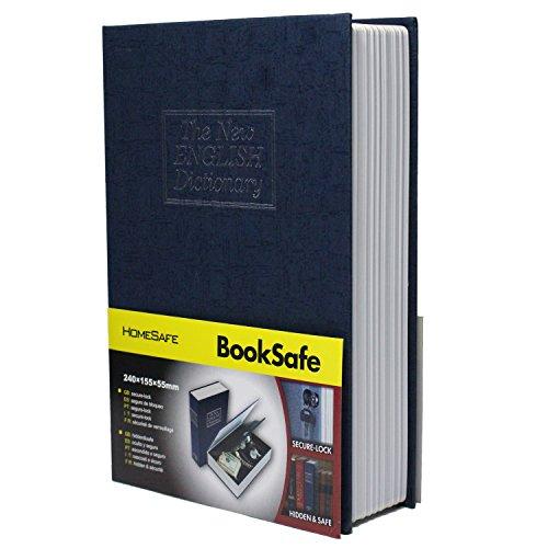 SEPOX - Caja fuerte con forma de libro con cerradura para llaves