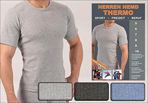 1 oder 2 Thermo-Unterhemden, Funktionsunterhemden,1/4 Arm, innen angeraut, Grössen 5 bis 10 lieferbar 2 Stück grau