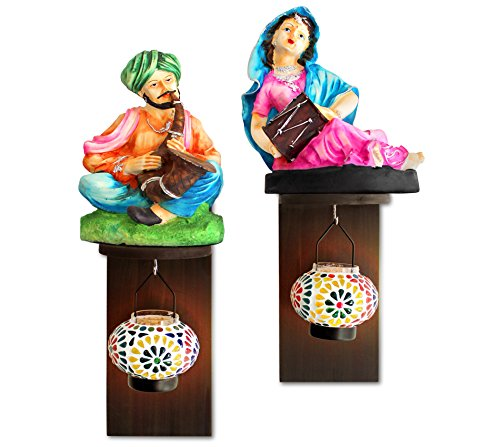 Tiedribbons Wall Hanging Rajasthani Figurines On Wall Shelf With