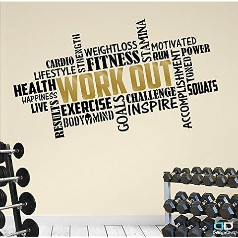 Allenamento Word cloud. Premium Fitness motivazionale motivazionale