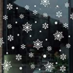 Gimitunus Adesivi murali Natalizi, Tende Bianche a Fiocco di Neve - Ornamenti Natalizi, Decorazioni Invernali o Adesivi per finestre Home Decorating per la Decorazione della Finestra di casa