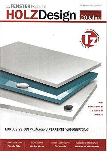 Holz-design-magazin (Holz Design (AT) 9-10 2015 Exklusive Oberflächen Zeitschrift Magazin Einzelheft Heft)