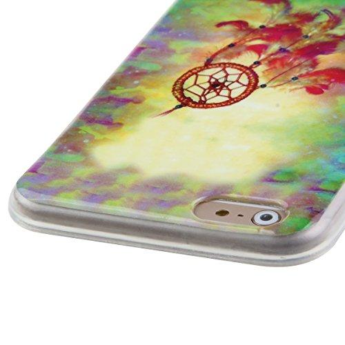 Ekakashop Mode TPU Silicone Souple Cover Case de Protection pour iphone 6 Plus/6s Plus 5.5 Pouces, Jolie Dessin Couleur imprimé Motif de Animale Mignon Chiot [Scratch-Resistant] [Perfect Fit] Crystal  couleur dreamcatcher