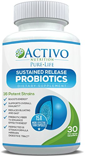 Probiotic 15x More Effective than Capsules or Tablets Due to Patented Time-Release Pearls – Best Proven Probiotics for Women, Men, Children to Improve Digestive Health, Immunity, Energy & Focus