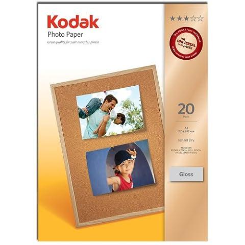 Kodak Glossy Photo Paper, A4, 210 x 297 mm, 180 g/m2, 20 Sheets